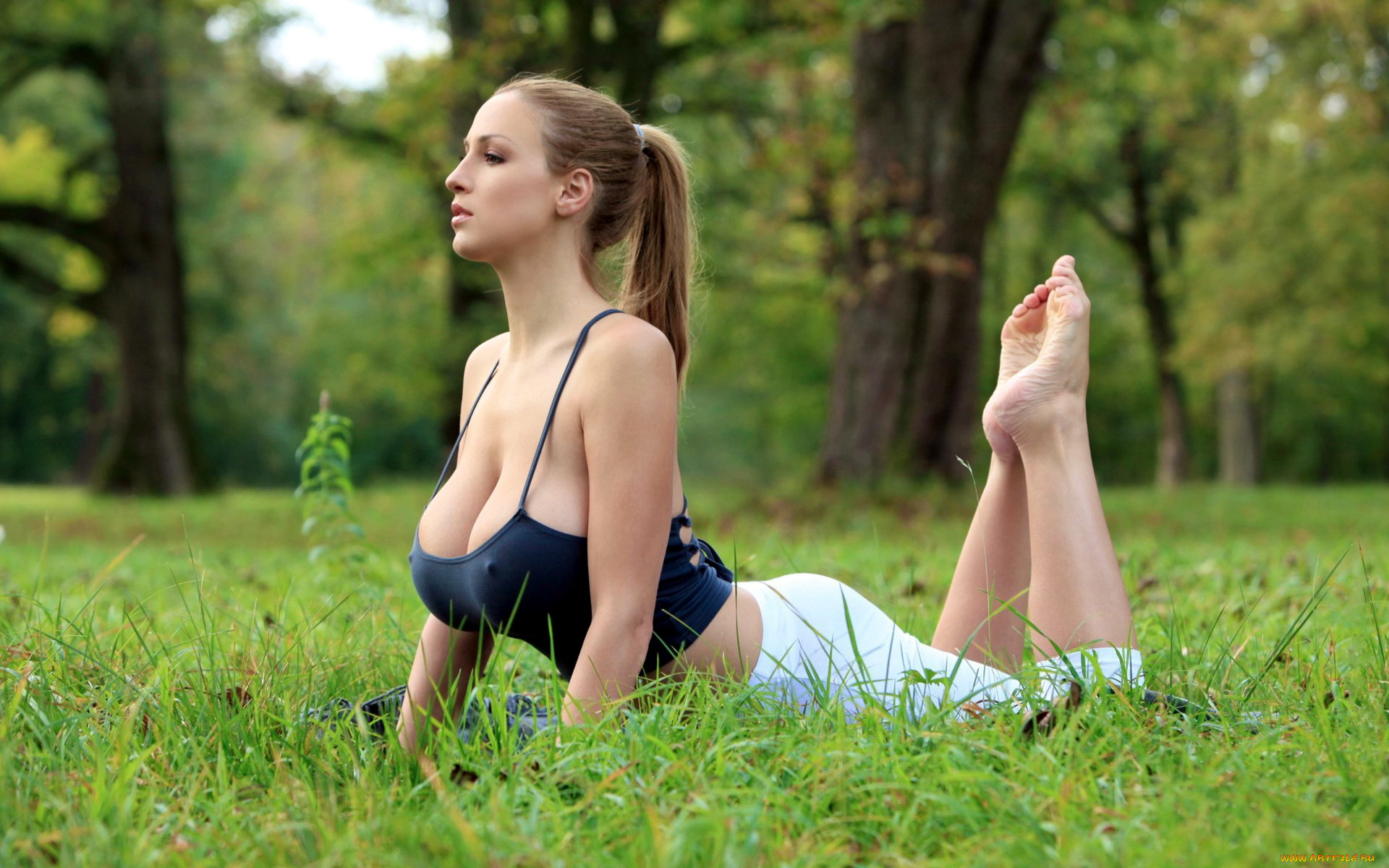 Topless Yoga Girls